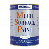 Bedec Multi Surface Paint Satin 250ml Silver