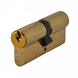ABUS 54180 E60NP Euro Double Cylinder Polished Brass 40mm / 50mm Box