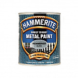 Hammerite HFS750 Direct To Rust Hammered Finish Metal Paint Silver 750ml
