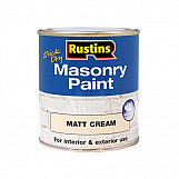 Rustins MASPC250 Quick Dry Masonry Paint Cream 250ml