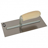 CK T5068 Finishing Trowel Carbon Steel Wood Handle 280 X 120mm