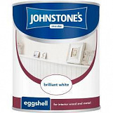 Johnstone's Paint Eggshell 2.5L Brilliant White Brilliant White