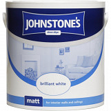 Johnstone's Paint Matt 2.5L Brilliant White