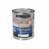 Ronseal 35044 One Coat Tile Paint White Satin 750ml