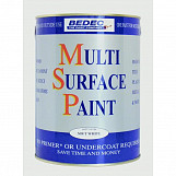 Bedec Soft Gloss Multi Surface Paint 750ml Light Grey