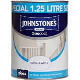 Johnstone's Paint One Coat Gloss 1.25L Brilliant White Brilliant White