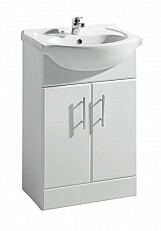 Eastgate Basin Unit 800mm H x 650mm W - High Gloss White