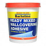 Bartoline 58510920 Easipaste Ready Mixed Wallcovering Adhesive 2.5kg Tub