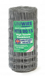 High Tensile Wire Fence Netting Livestock Small Holding Fencing HT8/80/15 100m