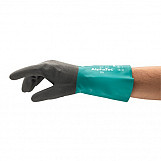 Ansell AN58-430L Alphatec Nitrile Confident Grip Enhanced Flexibility Gauntlet Glove Size 9 Large