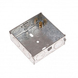SMJ MBS16C Metal Back Box 1 Gang 16mm Depth - Carded