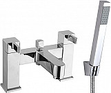 Eastgate Bath Shower Mixer with Square Handset - Chrome