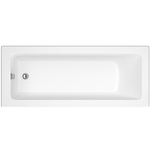 Eastgate Eternalite Square Single Ended Bath 380mm H x 700mm W - White