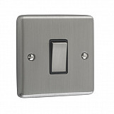 1 GANG 10A 2 WAY SWITCH - Brushed Chrome Black
