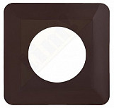 Light switch socket finger cover plates surround edge - brown colour