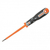 Bahco 033.030.100 Tekno+ VDE Screwdriver Slotted Tip 3.0mm X 100mm