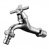 "1/2"" BSP Chrome Plated Brass Garden Hose Water Tap Cross Head with Ceramic Valve"