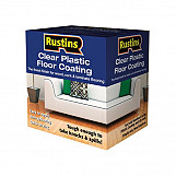 Rustins PCFK1000 Clear Plastic Floor Coating Kit Gloss 1 Litre