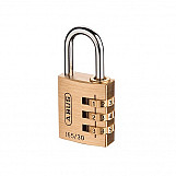 ABUS 16530C 165/30 30mm Solid Brass Body Combination Padlock (3 Digit) Carded