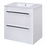 Eastgate Floor Standing Basin & Cabinet 820mm H x 610mm W - High Gloss White