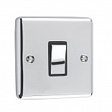 1 GANG 10A 2 WAY SWITCH - Polished Chrome Black