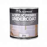 Blackfriar BF0380001D1 Quick Drying Acrylic Primer Undercoat White 1 Litre