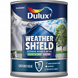 Dulux Weathershield Quick Dry Exterior Satin 750ml Oxford Blue