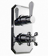 Eastgate Chrome Traditional Concealed Twin Shower Valve