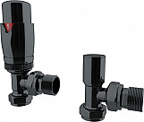 Eastgate Black Nickel Angled Thermostatic Radiator Valve TRV Pack