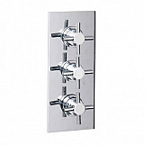 Eastgate Chrome Concealed Triple Cross Head Shower Valve