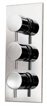Eastgate Chrome Concealed Triple Round Head Shower Valve