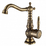 Antique Brass Kitchen Bathroom Faucet Mixer Tap Deck Mounted Single Handle