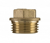 "1"" inch bsp thread brass pipe screw hex male blanking plug tube end cap"