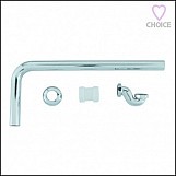 BC Designs BATH TRAP Exposed Chrome Low With Adapter (40/42mm) & Pipe - WAS080