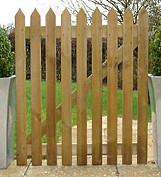 3ft x 3ft Pointed Wooden Picket Garden Path Gate High Quality Handmade In Devon
