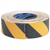Draper 65440 18M X 50mm Black And Yellow Heavy Duty Safety Grip Tape Roll