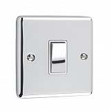 1 GANG 10A 2 WAY SWITCH - Polished Chrome White