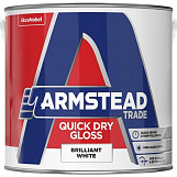 Armstead Trade Quick Dry Gloss 2.5L Brilliant White Brilliant White