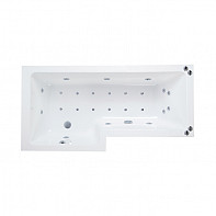 Phoenix Qube System 2 Acrylic Straight Airpool Spa Bath 1700mm x 850mm Right Hand