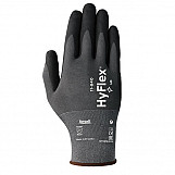 Ansell AN11-840L Hyflex Gloves Grey Foam Nitrile Extreme Durability Size 9 Large