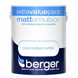 Berger Matt Emulsion 3L Pure Brilliant White Pure Brilliant White