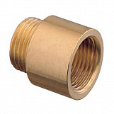 "10mm x 1"" BSP Pipe Thread Extension Female x Male Cast Iron Brass"