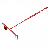 Faithfull FAIASP Asphalt Rake 16 Flat Teeth - Tubular Steel Shaft