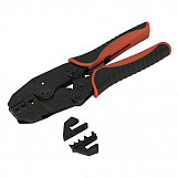 Sealey AK3857 Ratchet Crimping Tool With Interchangeable Jaws