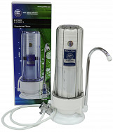 2 Stage Kitchen Countertop Water Filter Single Filtration System with Faucet