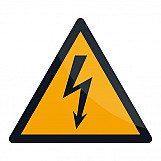 Fixman 346548 Electricity Warning Sign 100 X 100mm Self-Adhesive