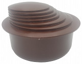 Brown  Colour Gutter Down Pipe Downpipe Downspout Reducer 110mm to Any Size Reduction Guttering Fittings