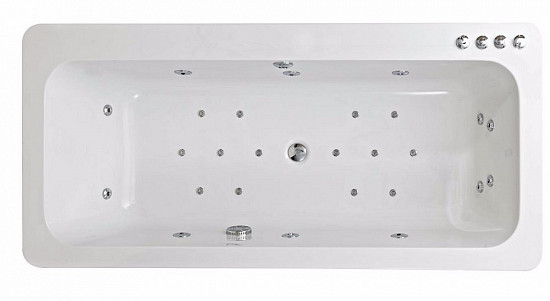 Phoenix Clio System 3 Amanzonite/Acrylic Double Ended Whirlpool & Airpool Spa Bath 1800mm x 850mm