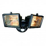 Byron ES120/2 Twin Halogen Floodlight With PIR Black 150 Watt
