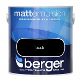 Berger Matt Emulsion 2.5L Black